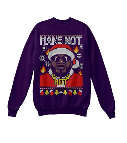 Mans Not Hot Christmas Jumper For Sale