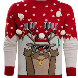 mens red christmas jumper