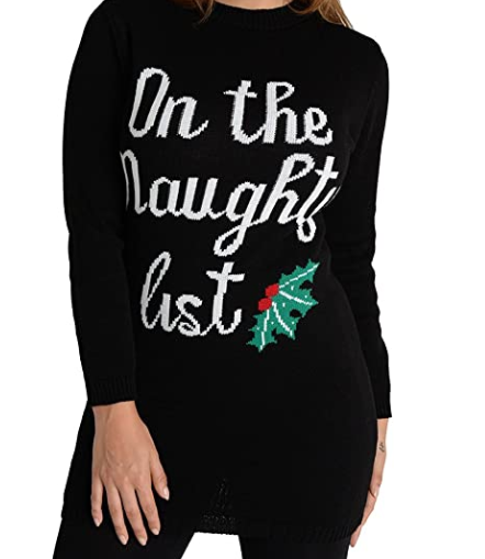 black christmas jumper womens