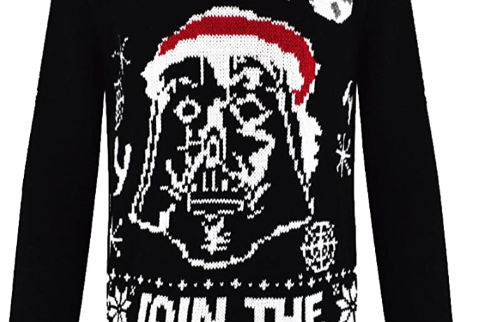 kids star wars christmas jumper